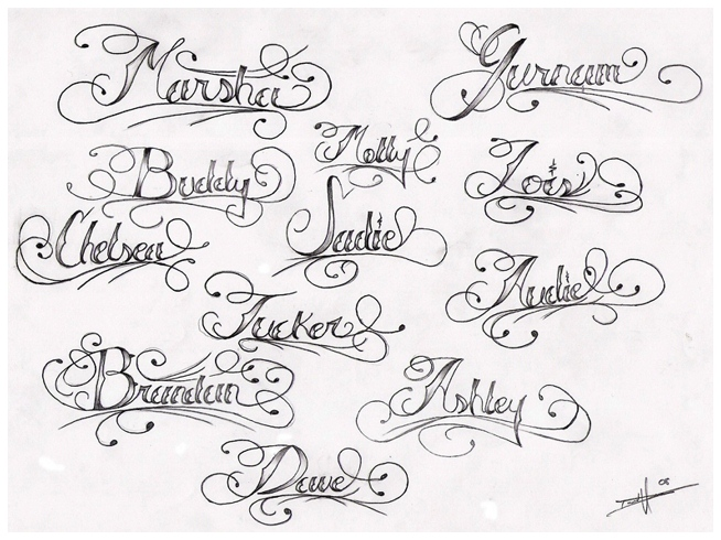 Tattoo Lettering Names