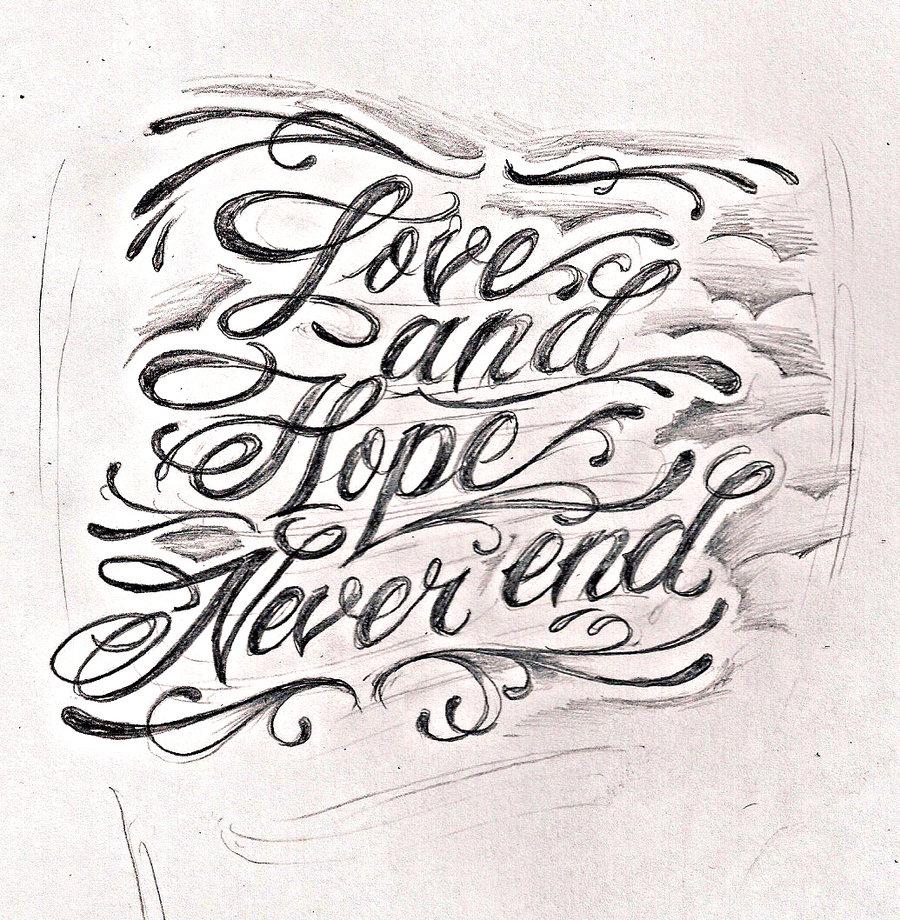 Tattoo lettering